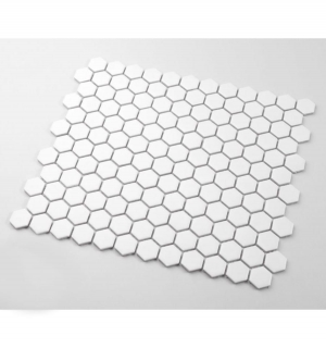 Mozaika MINI HEXAGON White Mat