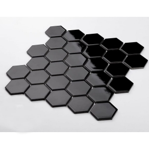 Mozaika HEXAGON Black Shine
