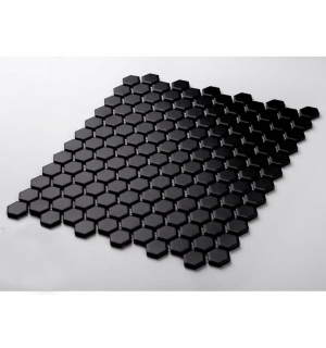 Mozaika MINI HEXAGON Black Mat