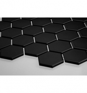 Mozaika HEXAGON Black Mat