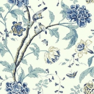 Tapeta TEAHOUSE FLORAL Blue