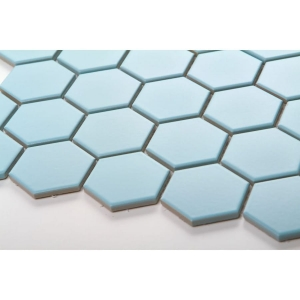 Mozaika HEXAGON Light Blue Mat