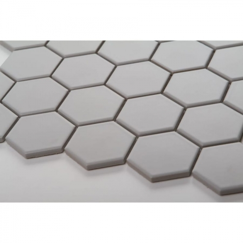 Mozaika HEXAGON Light Grey Mat